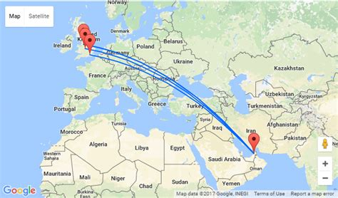 map showing dubai fly from the uk to dubai from only 163 212