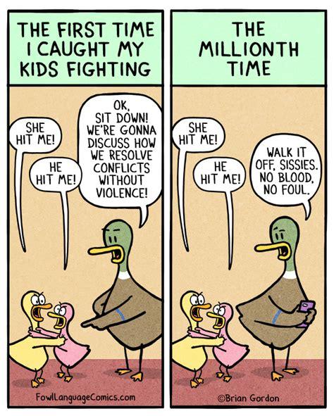 fowl language the struggle is real fighting fowl language comics