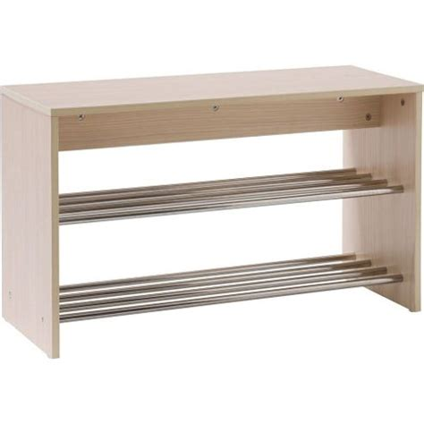 tesco shoe storage buy hallway shoe storage unit light oak silver from