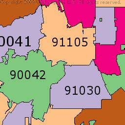 zip code map glendale ca california zip codes map my blog
