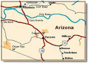 map of benson arizona benson az desertusa