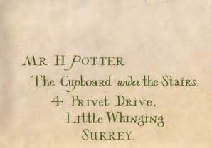 Photo of envelope from http www fanpop com clubs harry james potter