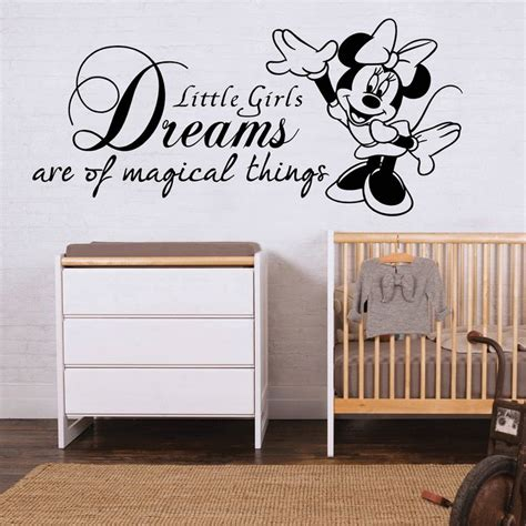 disney bedroom wall stickers minnie mouse wall sticker quote disney girls bedroom art