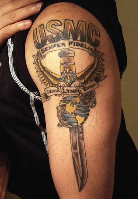 marine corps tattoo usmc on and designed by david nelke eagle wing