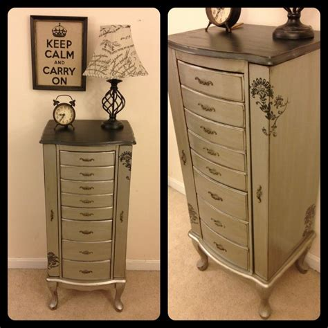 shabby chic jewelry cabinet 155 best images about metallic paint furniture on