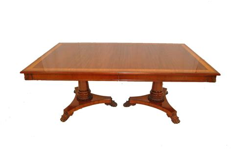mahogany dining table and 12 chairs by kindel neoclassic