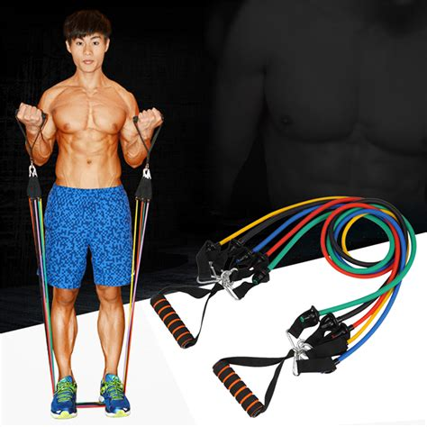 Resistance Band Bands Set Alat Fitness Portable Workout 2 s portable chest expander puller exercise crossfit rope fitness resistance