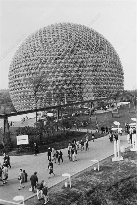 Buckminster Fuller's geodesic dome at EXPO '67 - Stock