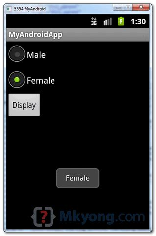 android radio button layout weight android radio buttons exle mkyong com