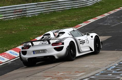porsche 918 racing spyshots porsche 918 spyder in martini racing stripes