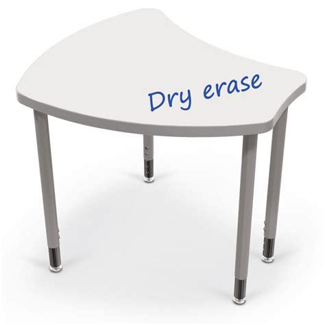 erase table balt large shapes desk w white erase top 11x35x