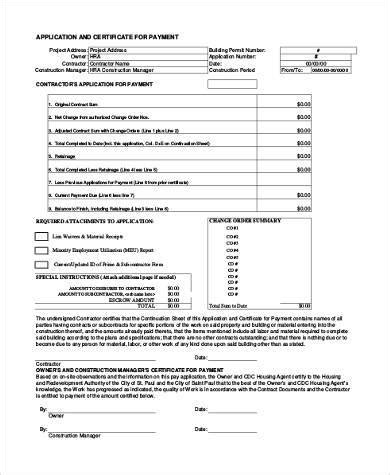 Sle Construction Application Forms 9 Free Documents In Pdf Pay Application Template