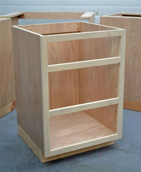 Built Kitchen Cabinets by Building Kitchen Base Cabinets 101 To For