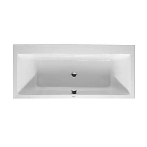 duravit vero rectangle bathtub 1800 x 800mm 700148