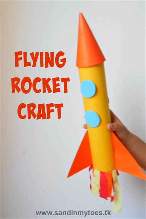 How To Make A Rocket Paper - busy flying rocket craft sand in my toes