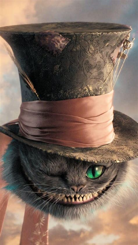 cat tattoo top hat alice in wonderland cheshire cat we re all mad here mad
