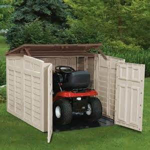 mower storage shed building