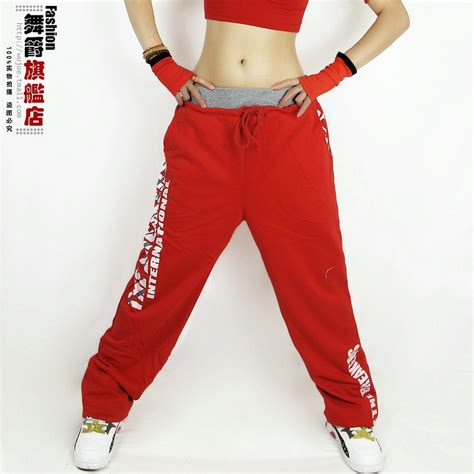 Celana Hip Hop Merah aliexpress beli merek fashion baru jazz harem perempuan celana hip hop ds tari kostum