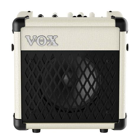 Vox Mini5 Rhythm Modeling Guitar Combo Lifier vox lification mini5 rhythm 5w 1x6 5 modeling combo guitar lifier in ivory with rhythm