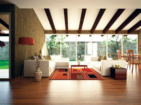 Wooden Ceiling Designs For Living Room Orange Accent Living Room Ceiling Beams Interior Design Ideas