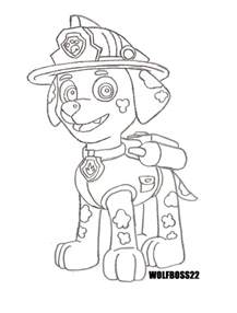 paw patrol marshall coloring pages coloring pages