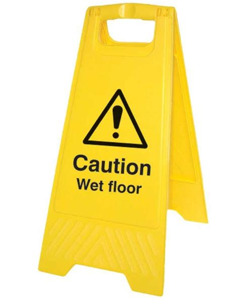 Sign Floor by Caution Floor Sign On Folding A Board