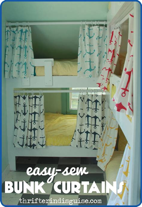 Ikea Bed Tent A Thrifter In Disguise Easy Sew Diy Bunk Bed Curtains