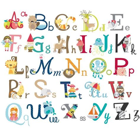 alphabet wall decals for rooms big graphic alphabet letters peel stick room nursery wall decal for boys by