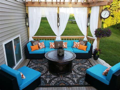 outdoor gazebo patio sheer velcro tab top window panel garden curtain drapes ebay