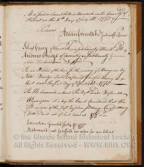 Rhode Island Court Records Colonial Justice Early Rhode Island Court Records Project Rhode Island Historical
