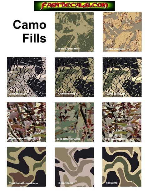 Sticker Camo camouflage decals and stickers