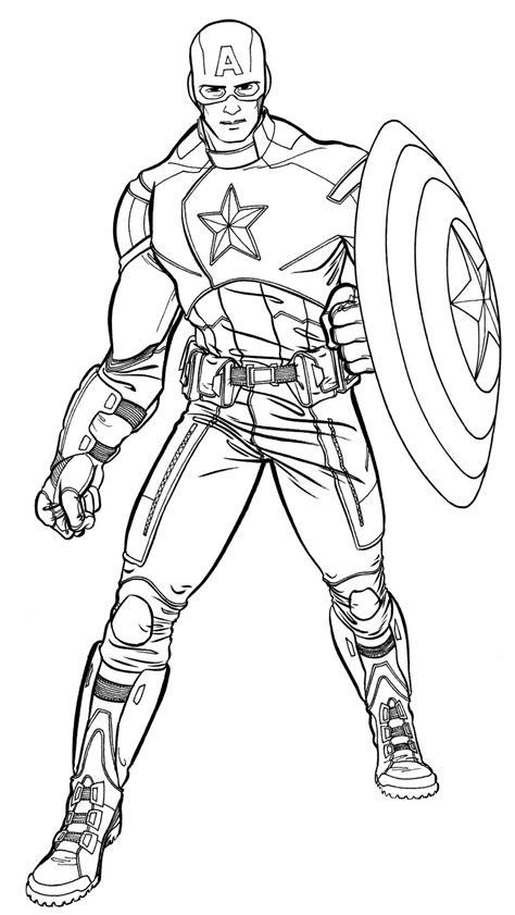 156 dibujos de Capitán américa para colorear | Oh Kids