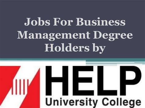Careers For Mba Degreed by For Business Management Degree Holders