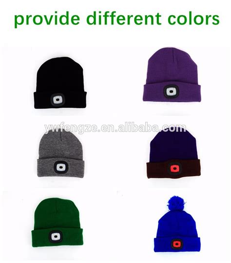 beanie hat with led light rechargeable light up beanie hat led strickmutze buy