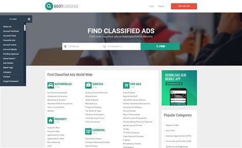 classified ads html template bootclassified classifieds websites html theme template