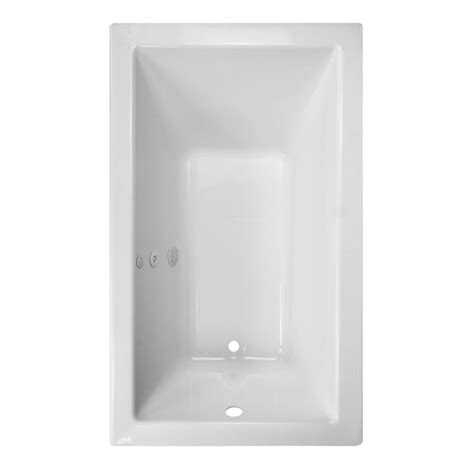 style selections bathtub shop style selections district 59 875 in white acrylic