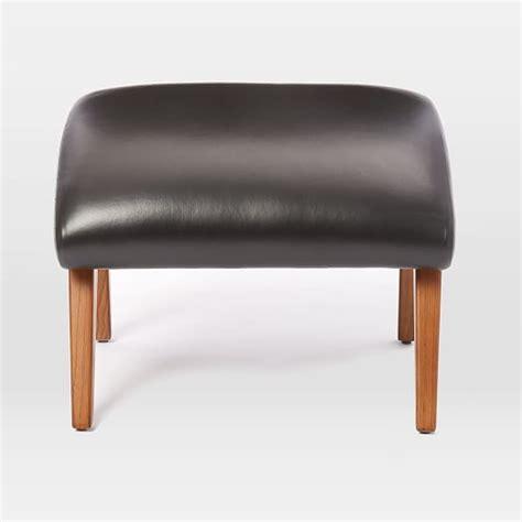 mid century leather ottoman contour mid century leather ottoman elm