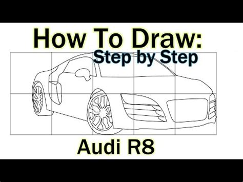 how to draw an audi r8 drawingforall net how to draw an audi r8 drawing tutorial step by step