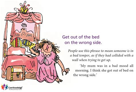 wrong side of the bed core knowledge uk image library year three language