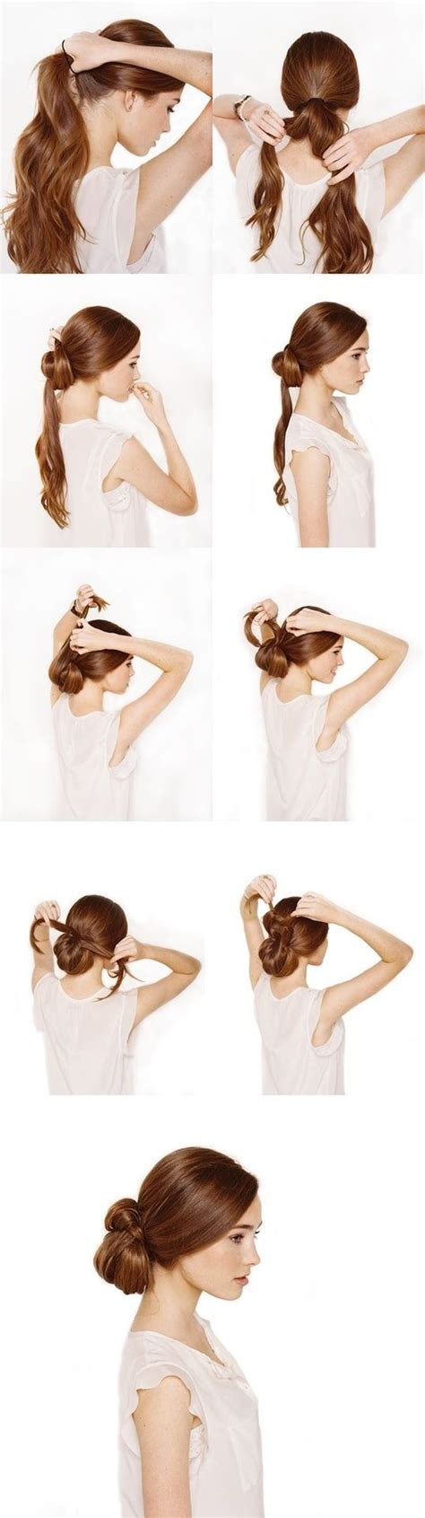 Bow Hairstyle Step By Step by How To Make A Elastic Less Bow Bun