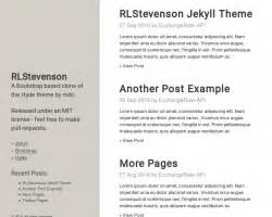 jekyll themes for github pages jekyll themes