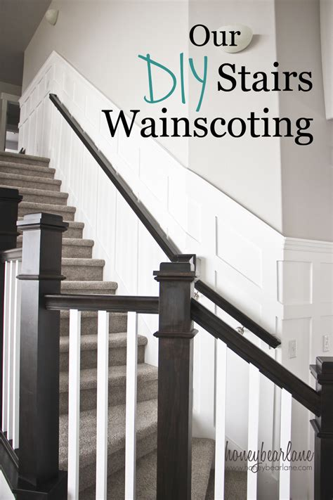 Decorating Your Hallway Diy Stair Wainscoting Honeybear Lane