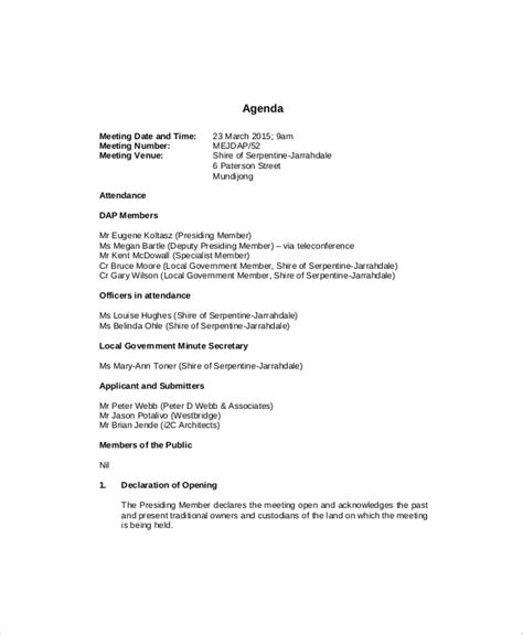 Manager Meeting Agenda Template by 10 Management Meeting Agenda Templates Free Sle