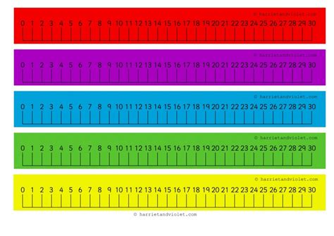 printable display number line to 100 number lines 0 30 numberlines zero thirty with