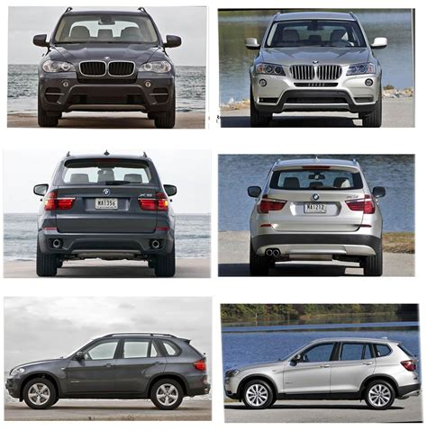 size difference between bmw x3 and x5 x3 vs x5