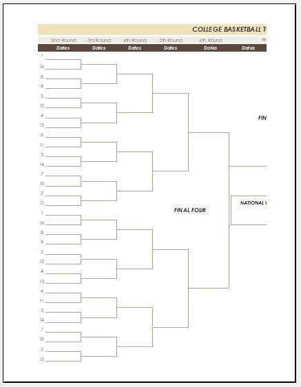 bracket template ms excel tournament bracket template microsoft word