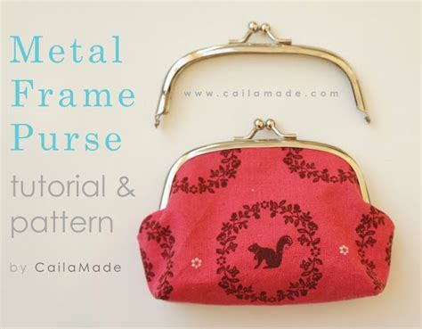 pattern for metal frame purse caila made love letter clutch tutorial and pattern