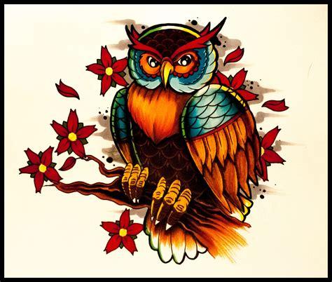 tattooing schools school tattoos owl www pixshark images