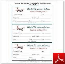 Pretend Plane Ticket Template by We Re Going On A Trip Free Travel Printables Suitcase