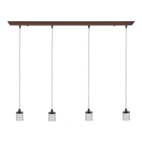 bronze kitchen lighting shop access lighting quada 2 in w 4 light rubbed bronze kitchen island light at lowes